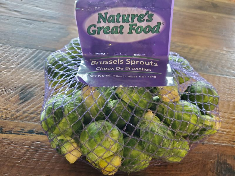 Natures GreatFood- Brussel Sprouts