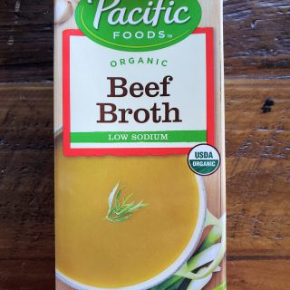 Pacific Foods - low sodium beef broth