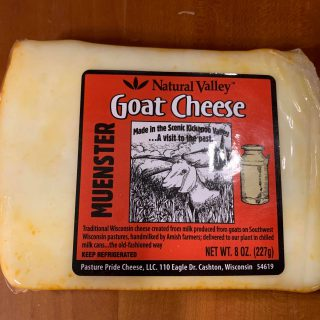 Natural Valley Muenster Goat Cheese, 8 oz