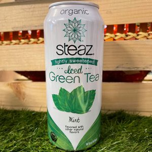 Steaz Organic Lightly Sweetened Iced Green Tea with Mint