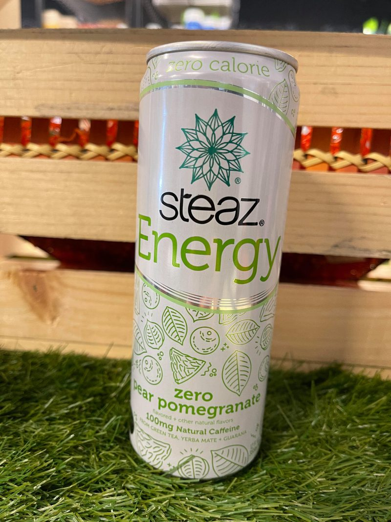 Steaz Organic Zero Calorie Energy Drink - Pear Pomegranate