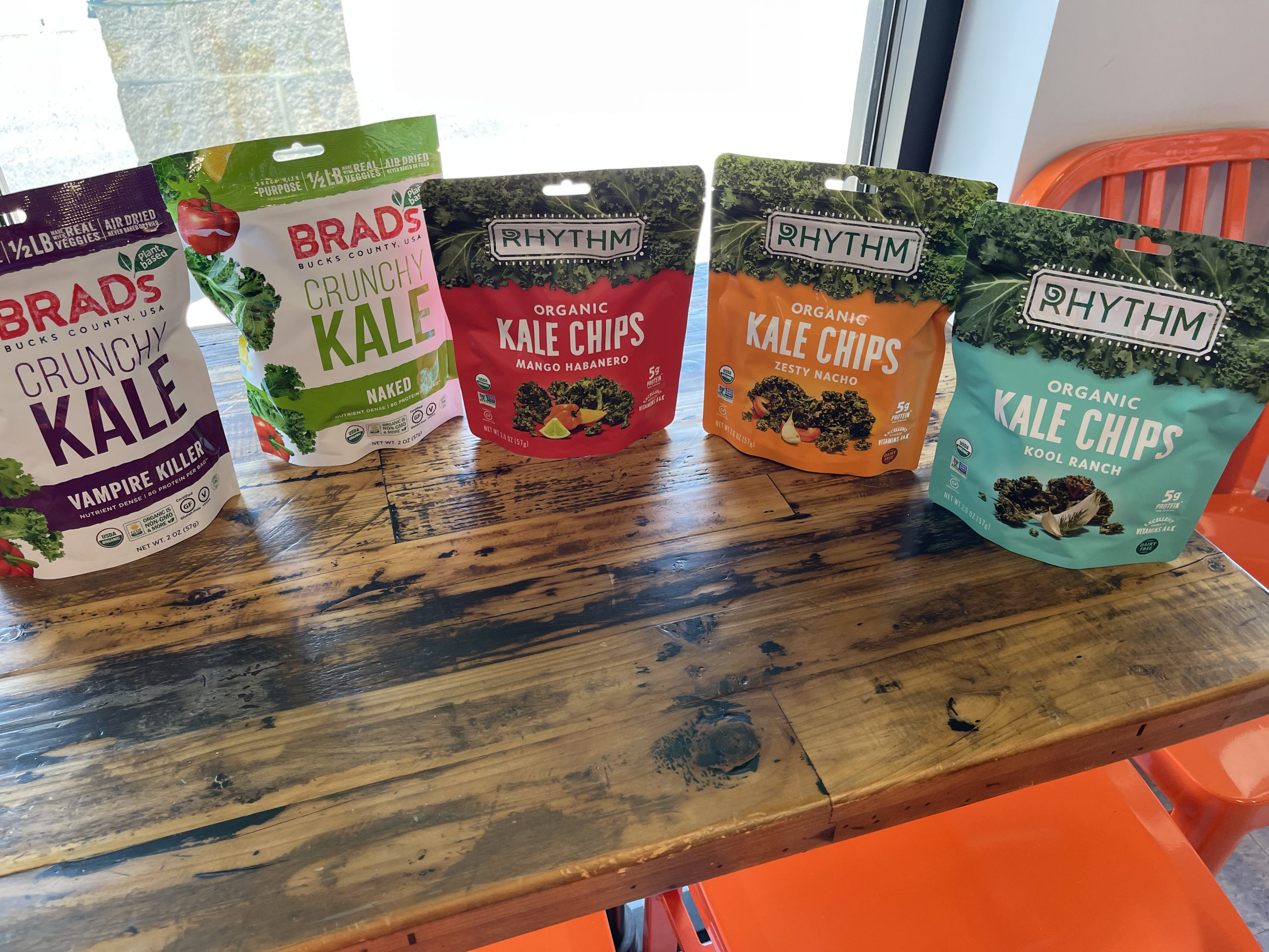 Various Kale Chips Available at Healthy Done Better