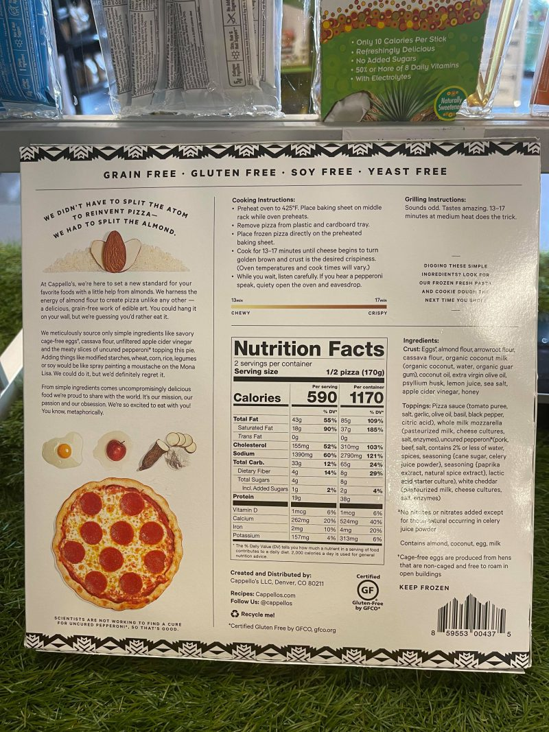 Uncured Pepperoni Pizza
